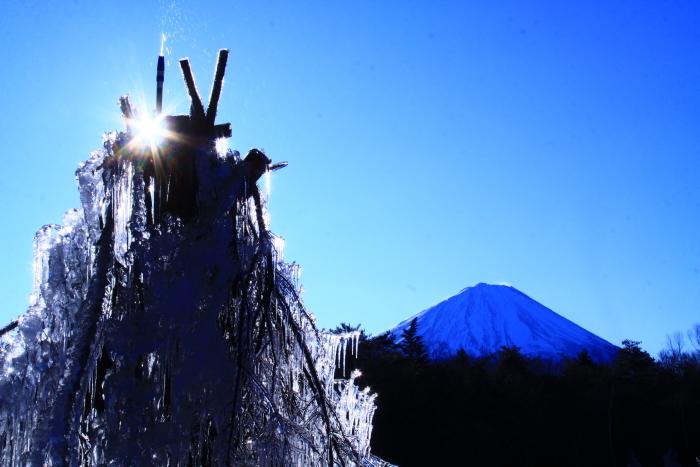 令和2年1月の富士 (6) 西湖樹氷まつりの富士_e0344396_14391062.jpg