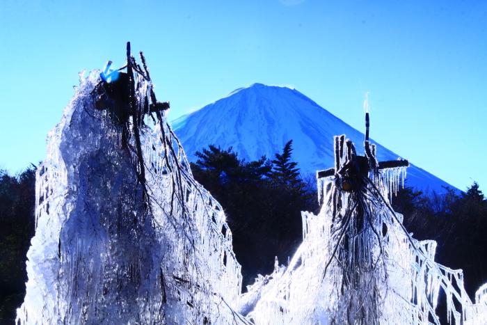 令和2年1月の富士 (6) 西湖樹氷まつりの富士_e0344396_14391842.jpg