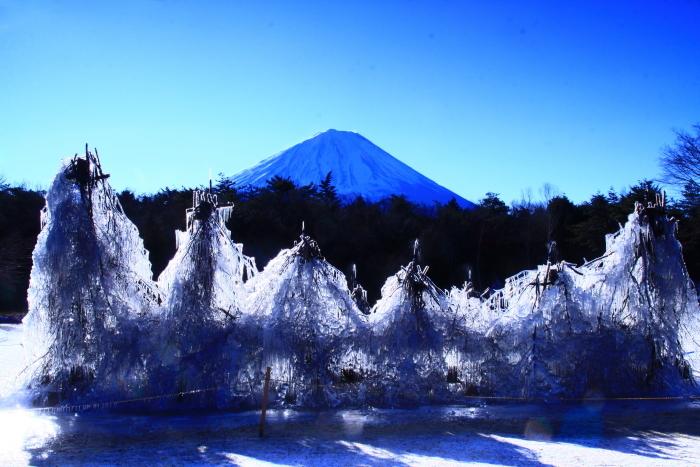 令和2年1月の富士 (6) 西湖樹氷まつりの富士_e0344396_14392703.jpg