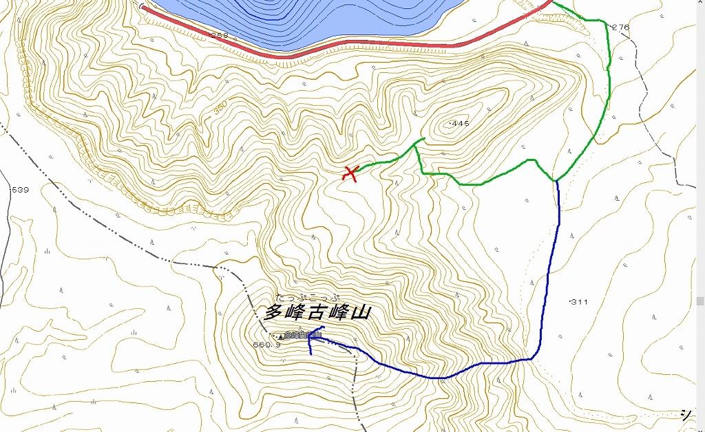 多峰古峰山は途中撤退、2020.1.10_f0138096_12561034.jpg