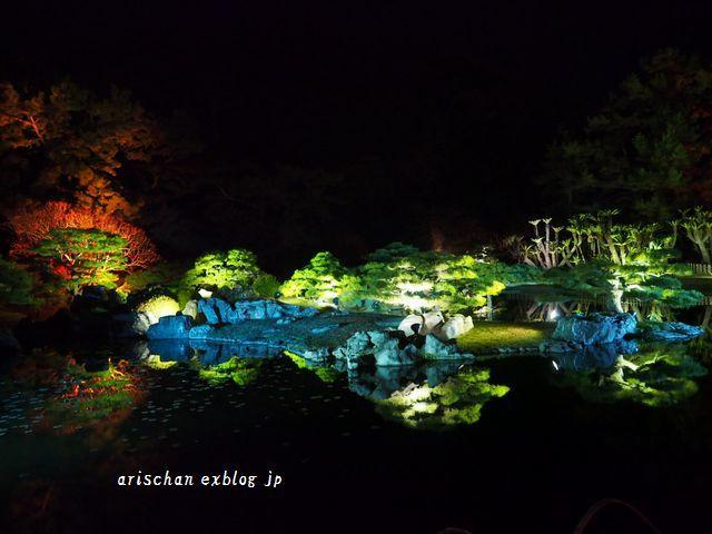 栗林公園のライトアップ紅葉2019と美味しい天麩羅うどん♡_e0406439_21005448.jpg