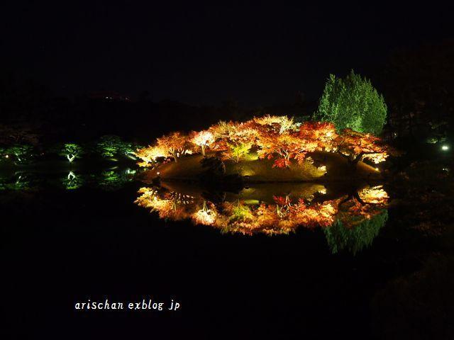 栗林公園のライトアップ紅葉2019と美味しい天麩羅うどん♡_e0406439_21023958.jpg