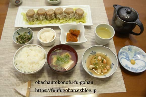 焼売並べて和のお膳&美味しいパスタは、また食べたくなるの~(^_^)v_c0326245_11081968.jpg