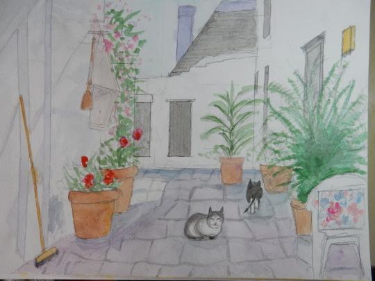 ′20,1,13(月)アルベロベッロの猫」の絵とブリの照り焼き!_f0060461_09454488.jpg