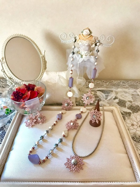 ❀Early Spring Necklace,Choker,Ring & Earrings❀_c0368764_16584384.jpg