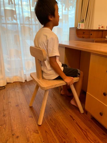 思い付きで椅子製作 彼の初デザイン_f0053665_13142641.jpg
