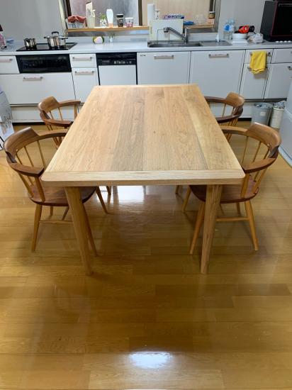 クルミ材 ダイニングテーブル_f0053665_17281167.jpg