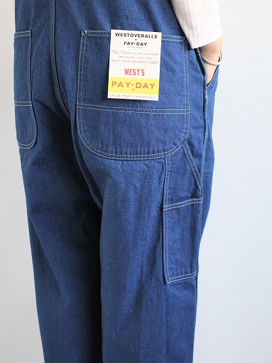 PAYDAY × WEST\'S OVERALL / INDIGO (LADIES SELECT)_b0139281_11374369.jpg