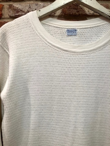 "1950s "" SEARS ROEBUCK AND CO. \"" ALL cotton HONEY-WAFFLE L/S THERMAL WEAR ※1月休業日のお知らせ ._d0172088_17123633.jpg"