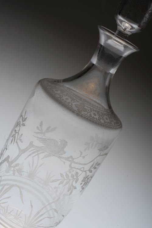 Baccarat Japonesque Acid Etching Decanter_c0108595_23463086.jpeg