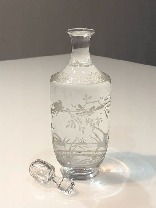 Baccarat Japonesque Acid Etching Decanter_c0108595_23473769.jpeg