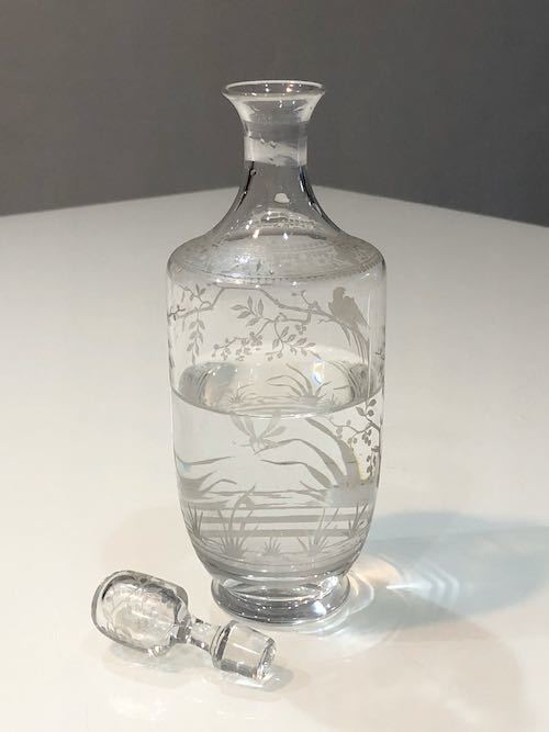Baccarat Japonesque Acid Etching Decanter_c0108595_23491892.jpeg