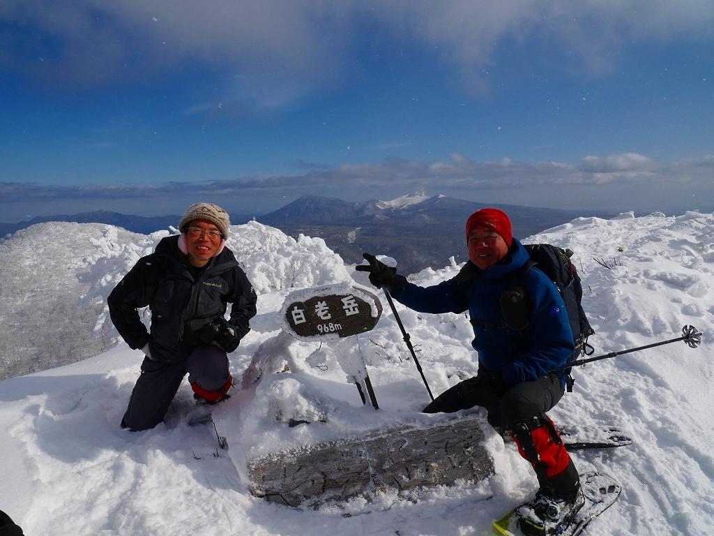 北白老岳と白老岳、2020.1.13ー速報版ー_f0138096_20123610.jpg
