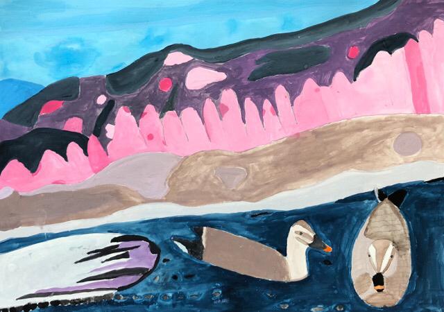 エコ絵画コンクールの作品を制作しました。2_f0373324_10421150.jpg