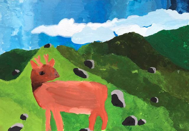 エコ絵画コンクールの作品を制作しました。2_f0373324_10421358.jpg