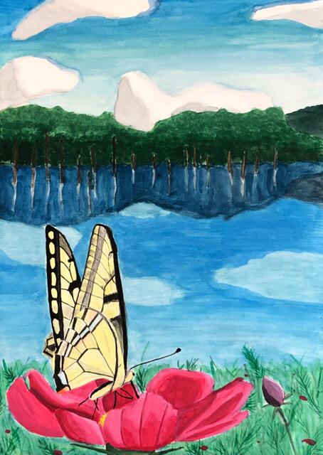 エコ絵画コンクールの作品、一宮教室。2_f0373324_10443902.jpg