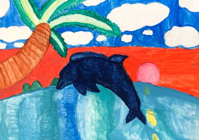 エコ絵画コンクールの作品、一宮教室。2_f0373324_10444100.jpg