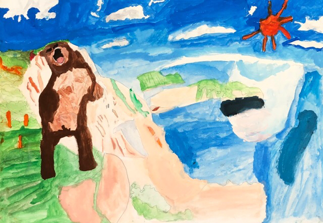 エコ絵画コンクールの作品、一宮教室。2_f0373324_10444623.jpg