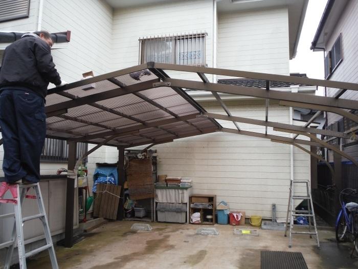 屋根、天井、カーポート ~ 工事終了です。_d0165368_07112211.jpg
