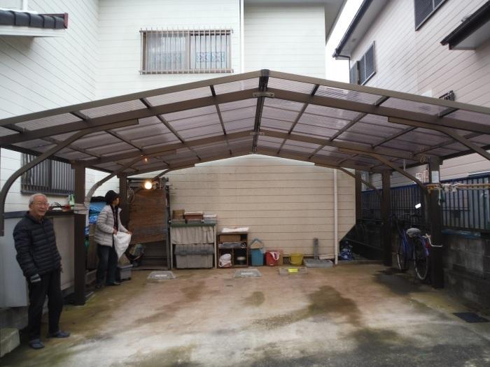 屋根、天井、カーポート ~ 工事終了です。_d0165368_07113174.jpg