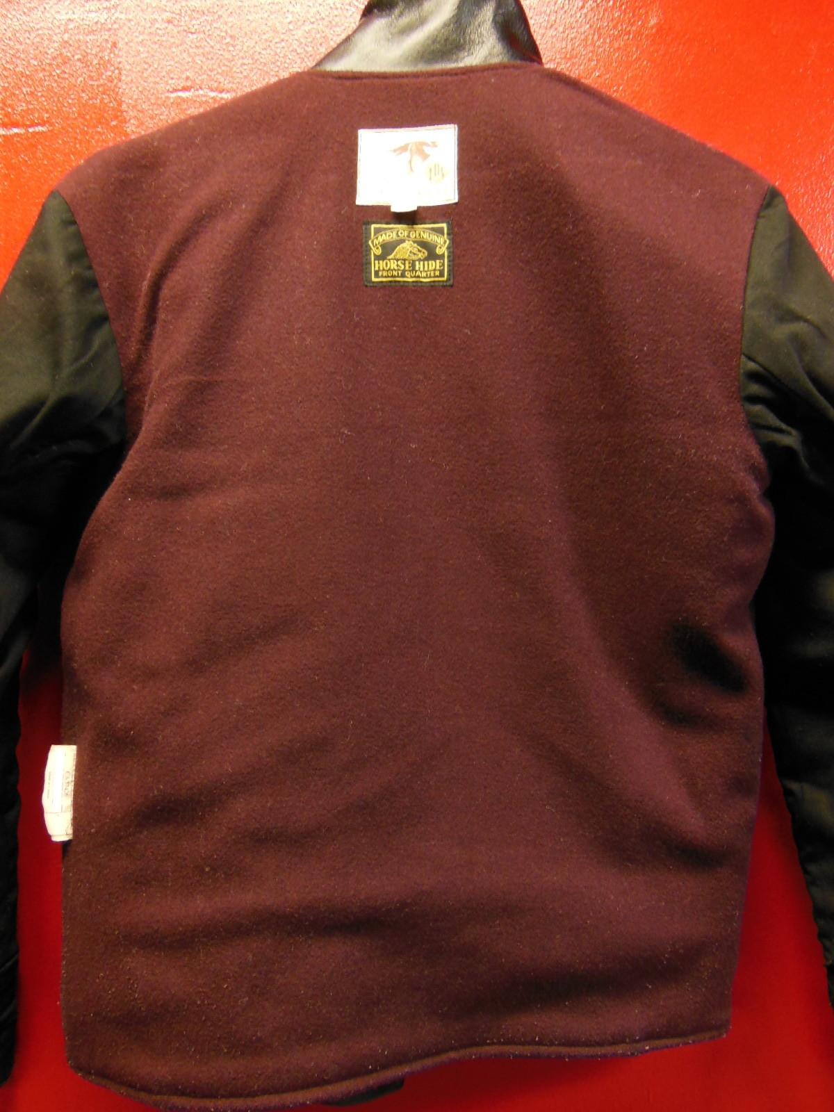 USED HIMEL BROTHERS LEATHER HERON 1929/新喜皮革製黒ホースハイド/SIZE-36/ボタンフロント A-1 ジャケット_c0187684_15062226.jpg