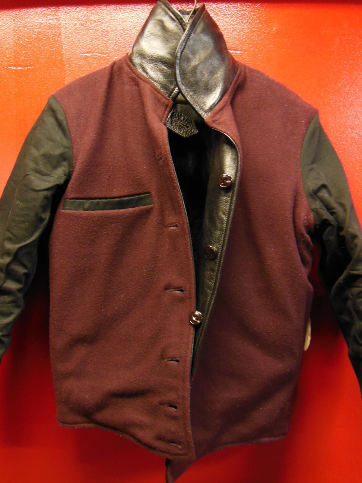USED HIMEL BROTHERS LEATHER HERON 1929/新喜皮革製黒ホースハイド/SIZE-36/ボタンフロント A-1 ジャケット_c0187684_15065286.jpg