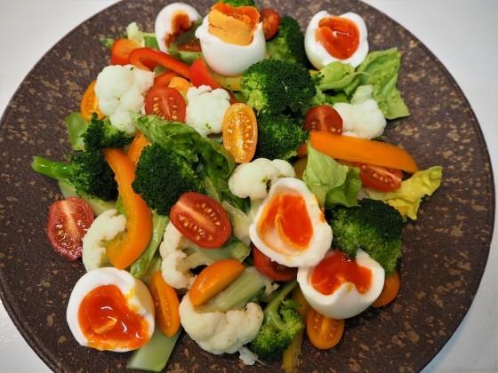 野菜サラダに玉ねぎドレッシング_a0258686_05092475.jpg