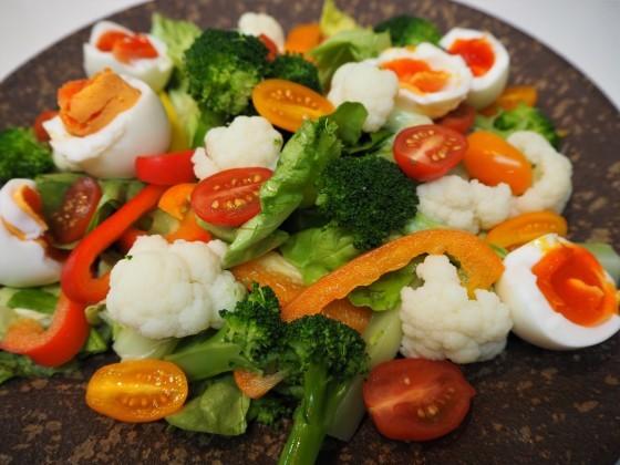 野菜サラダに玉ねぎドレッシング_a0258686_05092596.jpg