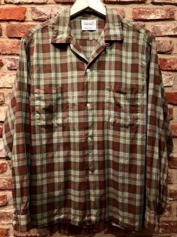 """1960s \"""" PENNEY\'S TOWN CRAFT \"""" 100% cotton VINTAGE BOX-TAIL CHECK SHIRTS ._d0172088_19072894.jpg"""
