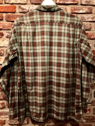"""1960s \"""" PENNEY\'S TOWN CRAFT \"""" 100% cotton VINTAGE BOX-TAIL CHECK SHIRTS ._d0172088_19093875.jpg"""