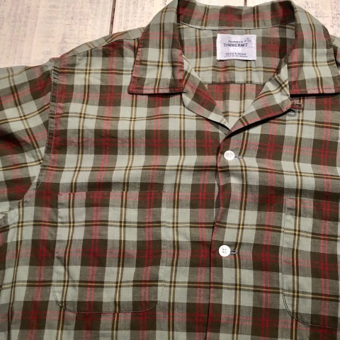 "1960s "" PENNEY\'S TOWN CRAFT \"" 100% cotton VINTAGE BOX-TAIL CHECK SHIRTS ._d0172088_20290248.jpg"