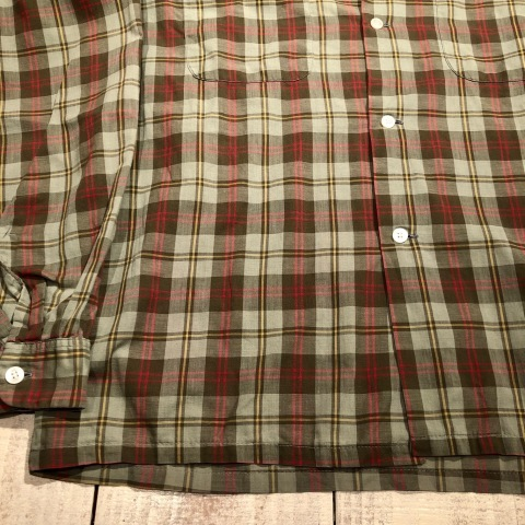 """1960s \"""" PENNEY\'S TOWN CRAFT \"""" 100% cotton VINTAGE BOX-TAIL CHECK SHIRTS ._d0172088_20301635.jpg"""