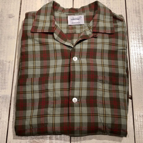 """1960s \"""" PENNEY\'S TOWN CRAFT \"""" 100% cotton VINTAGE BOX-TAIL CHECK SHIRTS ._d0172088_20304522.jpg"""