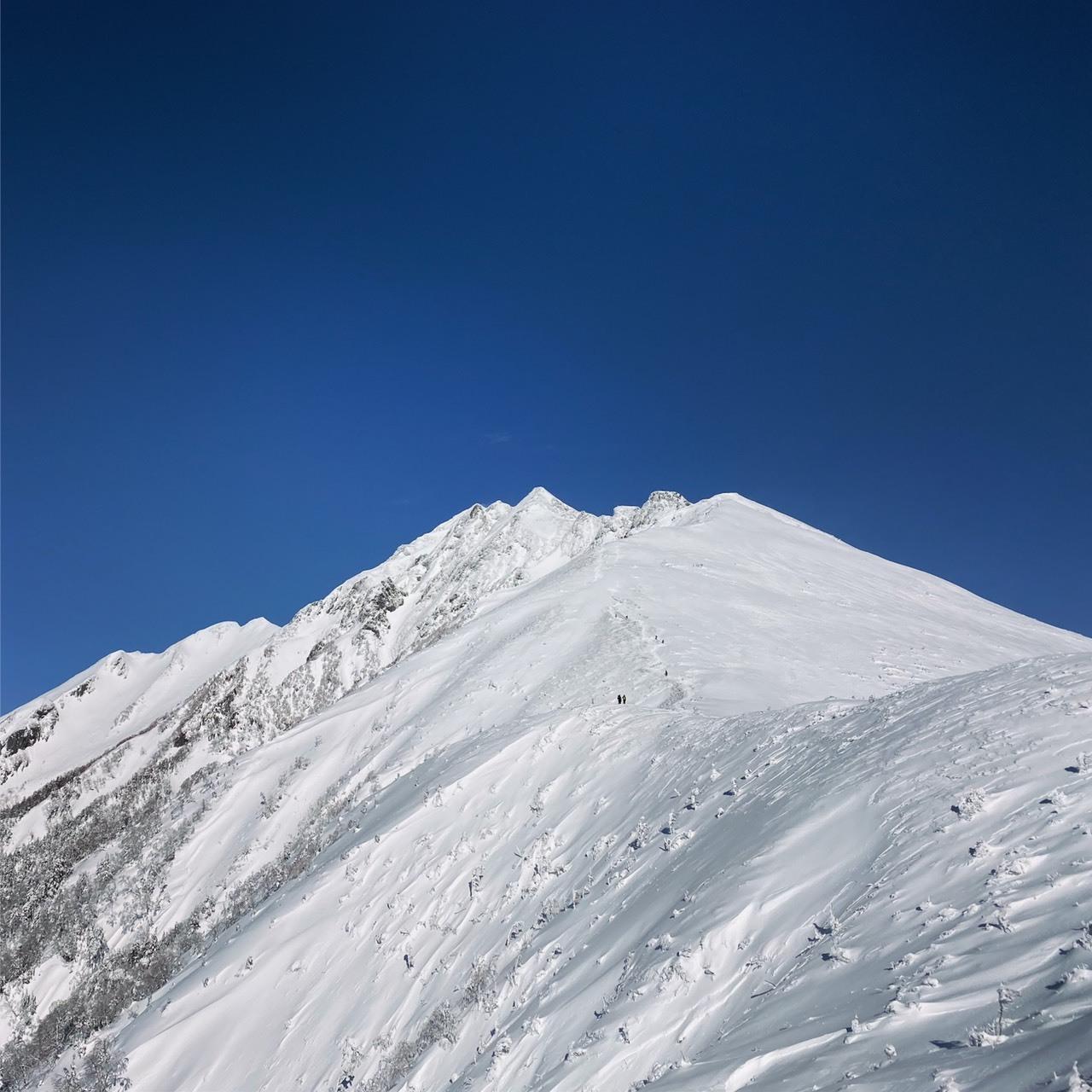 山友から送られて来た西穂高の写真_f0138096_17133592.jpg