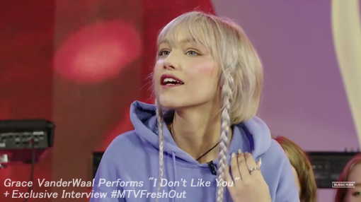 "[MTV-FreshOut] Grace VanderWaal Performs ""I Don\'t Like You\"" + Exclusive Interview_c0351105_06041656.jpg"