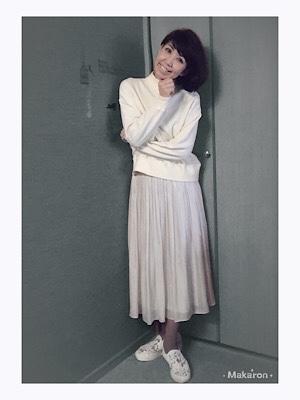 白のワントーンコーデ♡この丈寸が すごく使いやすい!_f0249610_17281800.jpg