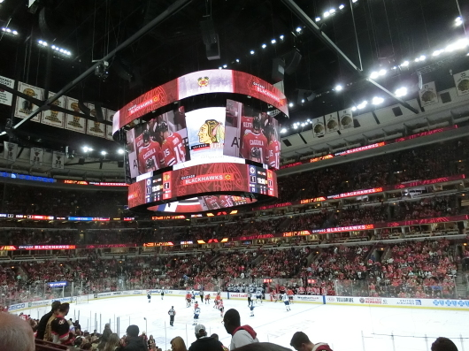 NHL観戦中に・・・撃沈しているひと_| ̄|○_e0303431_18162203.jpg