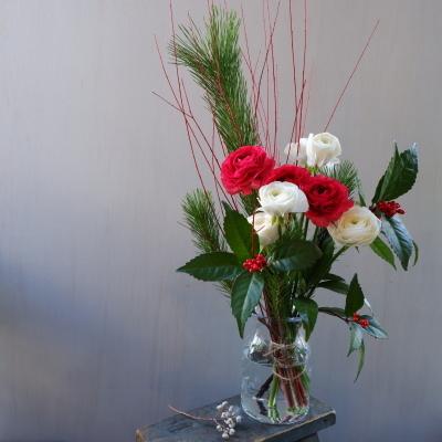 オークリーフ(お正月用のアレンジメント)_f0049672_18485811.jpg