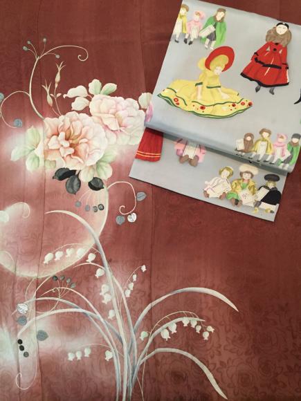 1/29より!新宿ISETAN「大正ロマン百貨店」薔薇と鈴蘭着物×ドール帯♪販売商品1_c0321302_11421715.jpg