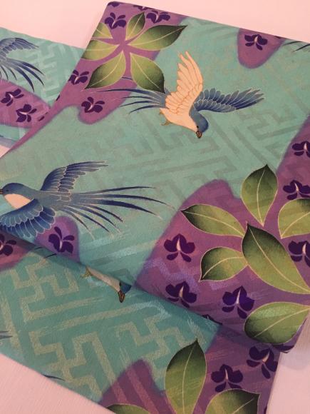 1/29より!新宿ISETAN「大正ロマン百貨店」藤の花着物×青い鳥と藤帯♪販売商品2_c0321302_13284888.jpg