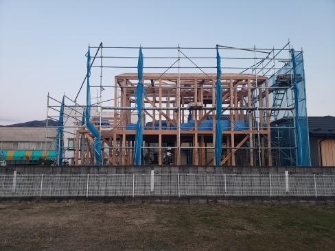 「桜川の家」が上棟しました!_a0059217_08291579.jpg