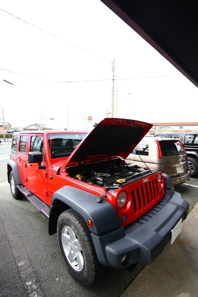 TJへLEDヘッドライト装着から幌交換_f0105425_20055294.jpg