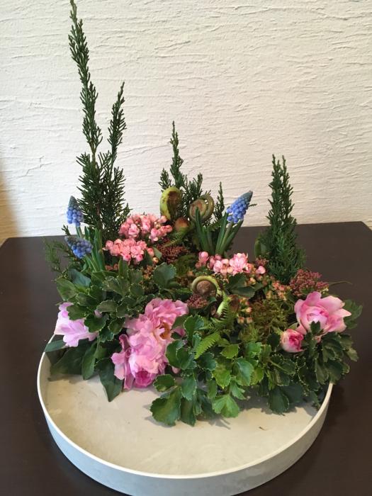 球根付きのムスカリ〜春のお庭のイメージで_f0155431_22084371.jpg