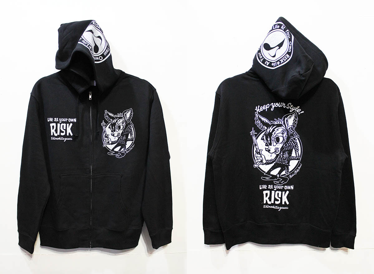 「Rockin\'Jelly Bean × RISK」ジップパーカー発売!_e0293755_19452603.jpg