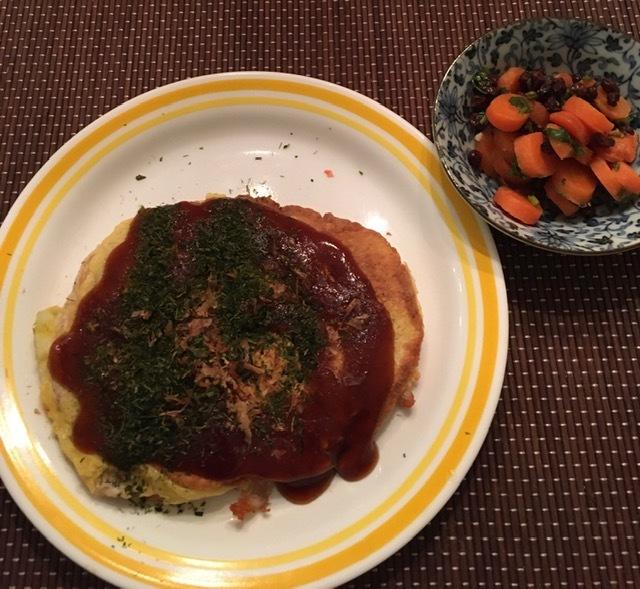 最近の日本食ー筑前煮、お好み焼き_e0350971_10441030.jpg