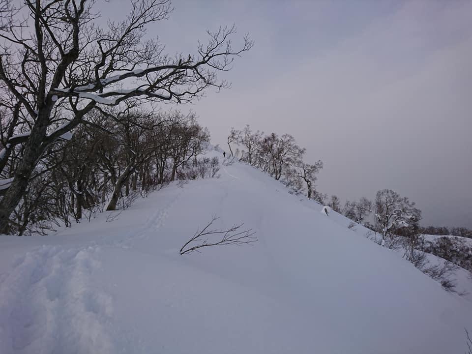 新ライトニングアッセントで信砂岳スノーハイク_d0198793_16590764.jpg