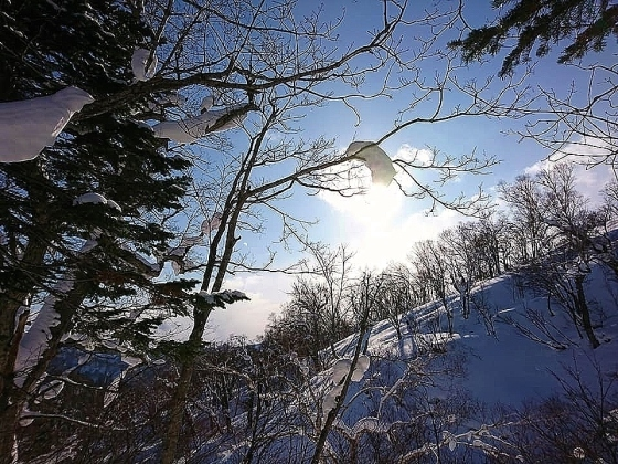 新ライトニングアッセントで信砂岳スノーハイク_d0198793_17014606.jpg