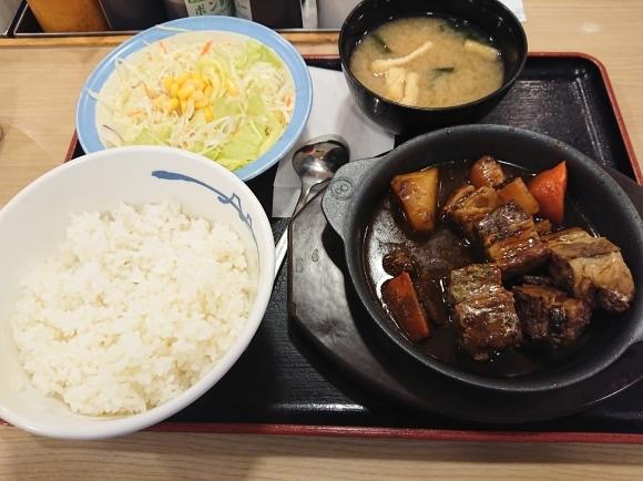 1/17 ビーフシチュー定食生野菜付¥980@松屋_b0042308_13334078.jpg