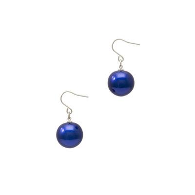 身につける漆 漆のアクセサリー ピアス 糖蜜珠 コバルト色 坂本これくしょんの艶やかで美しくとても軽い和木に漆塗りのアクセサリー SAKAMOTO COLLECTION wearable URUSHI accessories earrings Molasses Jewel cobalt blue オリジナルの発色の良い鮮やかな強いブルーが上品でクールな印象を演出、シンプルなお洋服に一つプラスするだけでポイントになる艶やかな丸い珠、耳元で女性らしくゆらゆら揺れる大人かわいいチタンユーロワイヤーピアスです。 #ピアス #糖蜜珠 #コバルト色 #軽いピアス #青いピアス #ブルーピアス #漆のピアス #earrings #pierce #jewelry #BlueEarrings #CuteEarrings #accessories #耳が痛くない