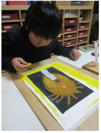 火を描く 小学生クラス(上高野)_f0211514_22190584.jpg